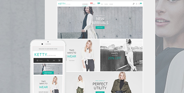 Ketty - Clothing Store Magento Theme