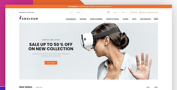 Amalgam - Wholesale Magento Theme