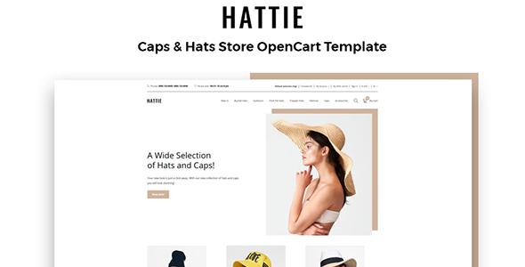 Hattie - Fashion Multipage Clean OpenCart Template
