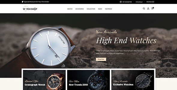 Watch Store Responsive OpenCart Template