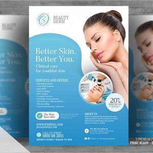 Dermatology services Promo flyer