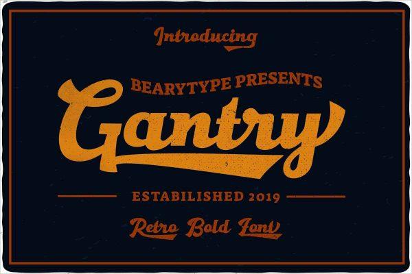 Gantry Hand Lettering Script
