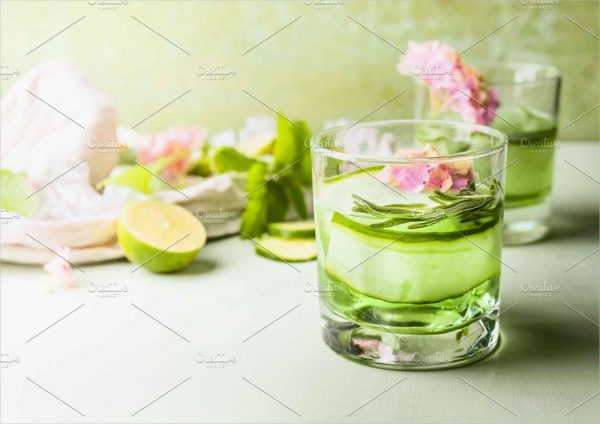 Green Cucumber Lime Drink