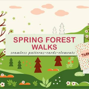 Spring forest walks Vector design