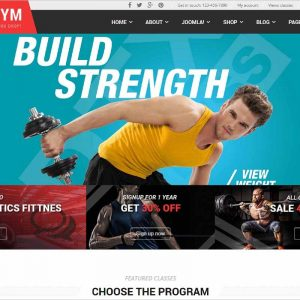 TheGym Fitness Joomla Template