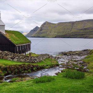 Wooden church on Faroe Islands