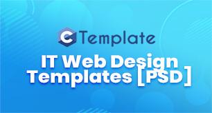 15 IT Web Design Templates PSD