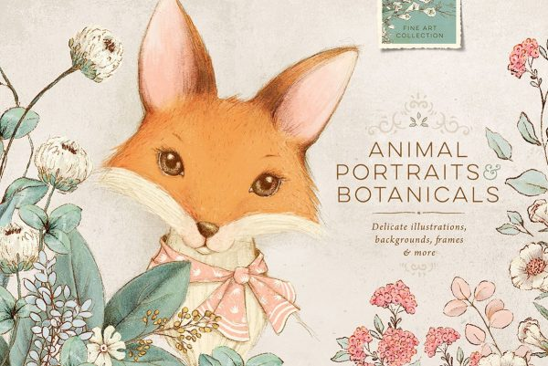 Animal Portraits and Flowers